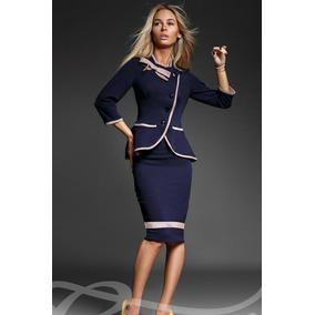 Conjunto Glam - Outerwear Importado Traje Saco Pollera