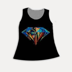 Regata Feminina Estampada Diamante Colorido Tumblr Cool