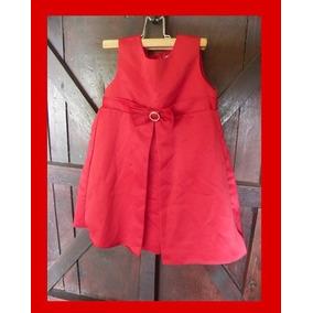 Vestido Rojo Espectacular Para Niña