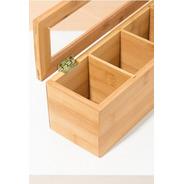 Caja Te Madera Bambu Organizador Saquitos Palermo O Centro