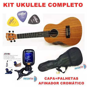 Kit Completo Ukulele Shelby Mogno Su23m Concerto Envio 30/11