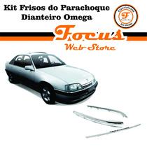 Kit Frisos Cromado Do Parachoque Dianteiro Omega E Suprema