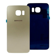 Samsung Galaxy S6 Flat Tapa Trasera Dorado + Adhesivo