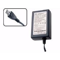 Fonte Impressora Hp Officejet J3600 Plug Cinza+ Cabo Energia