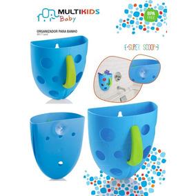 Organizador P/ Banho Bebê Porta Objetos Azul Multikids Baby