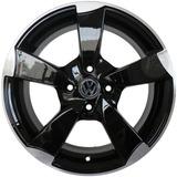 Llanta Aleacion Audi A1 Negra Rodado 15 Vw Chevrolet Renault