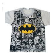 Kit 6 Camiseta Masculina Infantil Atacado Personagem Herois