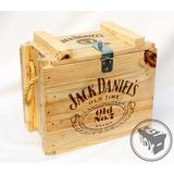 Caixa Wisky Jack Daniels Em Madeira Pinus