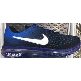 Zapatillas Nike Airmax Deportivas Azules Rojas Nuevas En Caj