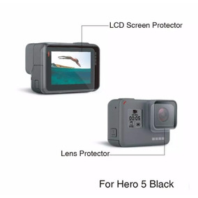 Película De Proteção Lente E Tela Lcd Gopro Hero 5 Black