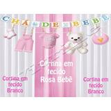 4 Cortina 1,5x2.20 Chá Bebê Festa Aniversario Infantil Bufet