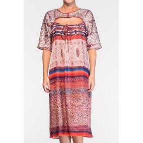 Vestido Mídi Em Seda Estampada - Belle & Bei - Sob Medidas