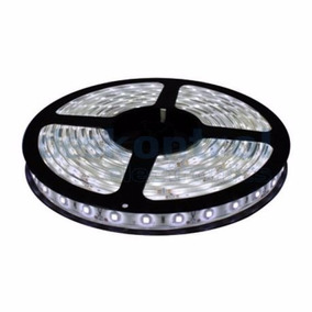Tira De Led 12v 5050 Blanco Frio Rollo X 5mts Interior Ip20