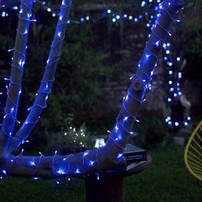Serie Navideña 10m 100 Leds Luz Fija Color Azul Navidad