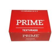 Preservativos Prime Texturado 24 Cajitas X 3 Unidades