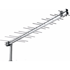 Kit Antena Uhf Digital Hdtv +10mt Cabo Rg59 + Mastro Fixaçao