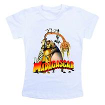 Camiseta Infantil Madagascar Bn318