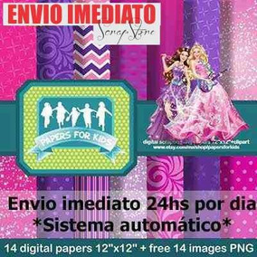 Kit Scrapbook Digital Barbie Pop Star - Envio Imediato