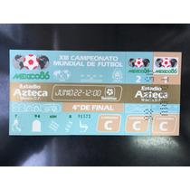 Boleto Mundial Mexico 86 Argentina Vs Inglaterra Mano Dios