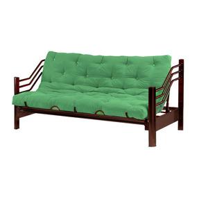 Sofa Cama Futon Tammex Mod 8140 Color Chocolate + Colchoneta