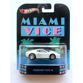 Hot Wheels Ferrari F512 M Retro Llanta De Goma Miami Vice