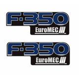Par De Adesivo Emblema Resinado Ford F350 Euromec 2 Peças