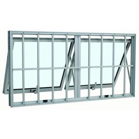 Janela Maxim-ar Sasazaki Alumínio Duplo Horizontal Com
