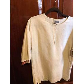 Zara Hombre Camisa Oversized Lino Talla M