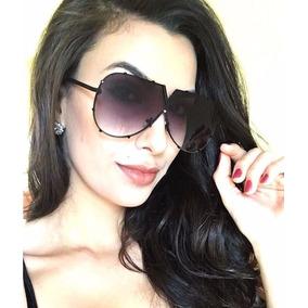 Óculos De Sol Feminino Máscara Uv400 Degradê