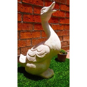 escultura ganso en grano de mrmol para casa o jardn
