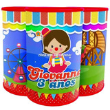 30 Cofre Personalizado Circo Meninas Festa Lembrança