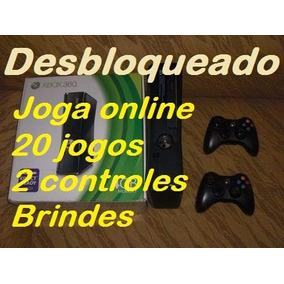 Xbox 360 Desbloqueado+20 Jogos+2 Controles+garantia