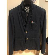 Saco Zara Slim Fit Blazer Hombre - Talle Smalll - Azul