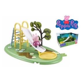 Peppa Pig Juego De Plaza Tobogan ! Jugueteria Bunny Toys