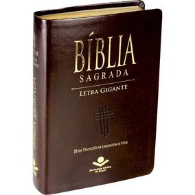 Bíblia Sagrada Letra Gigante Masculina Ntlh Índice Luxo