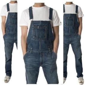 Jardineira Masculino Jeans Macacão