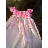 Vestidos Trajes Estilo Europeo Tejidos Bebés Crochet Niña