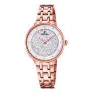 Reloj Festina De Dama Rosé Con Cristales Swarovski F20384/1