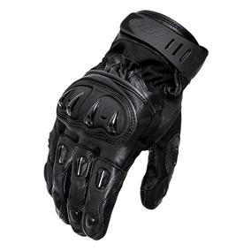 Luva Motociclista X11 Impact Cano Curto Couro C Protetor P