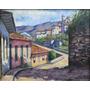 Quadro Pintura Óleo S/ Eucatex Ouro Preto 24x30 Frete Grátis