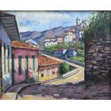 Quadro Pintura Óleo Arte Casario Ouro Preto 24x30cm