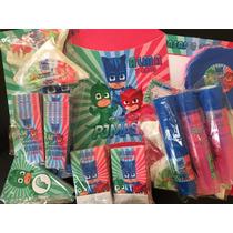 Pack Cotillon Personalizado Pj Masks Heroes En Pijamas