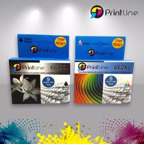 Combo Cartuchos 662 Genericos Printline Xl 18ml