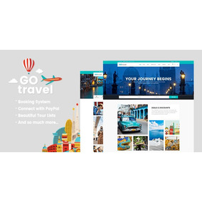 Gotravel 1.3 A Travel Agency E Tourism Theme