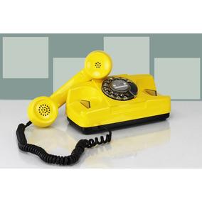 Telefone Barato Tijolinho Vintage Vermelho Funcionando Disco