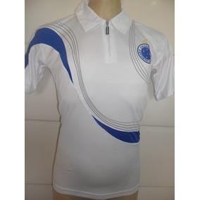 38bc259880 Camisa Polo Passeio Branca 2018 Masculina Cruzeiro + Brinde