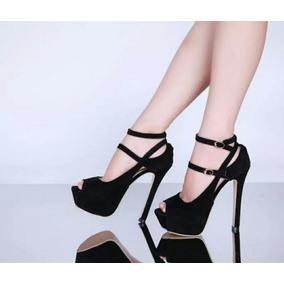 Sapato Feminino Sandália Cabeça De Peixe Salto 15cm Sexy