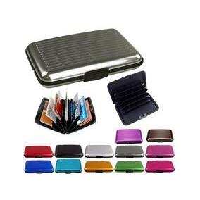 Kit 10 Porta Cartões Visita Crédito Alumínio Prova Dágua