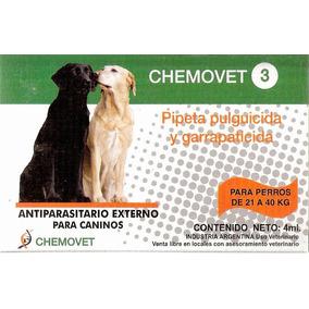 Pipeta Antipulgas Y Garrapatas Chemovet 3 (21 A 40 Kg) 10+1