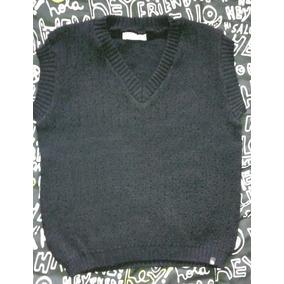 Sweater Chaleco Para Niño Color Negro Talle 12